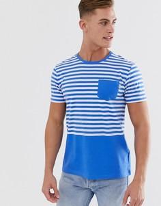 Футболка в ярко-синюю морскую полоску Esprit-Синий