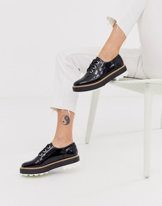 Туфли на шнуровке и массивной плоской подошве Aldo-Черный