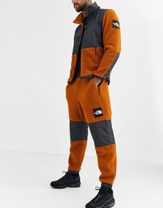 Флисовые брюки верблюжьего/черного цвета The North Face Denali-Коричневый