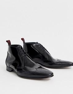 Кожаные ботинки Jeffery West Escobar-Черный