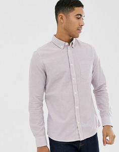 Бело-розовая рубашка в полоску с длинными рукавами Burton Menswear-Розовый