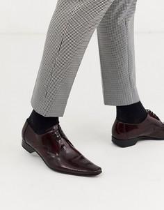 Бордовые кожаные туфли Jeffery West Pino-Красный