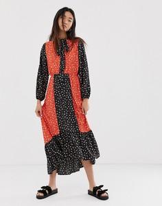 Платье макси с цветочным принтом Only-Черный