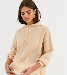 Трикотажный худи из материала с добавлением шерсти с завязкой Micha Lounge Luxe-Светло-коричневый