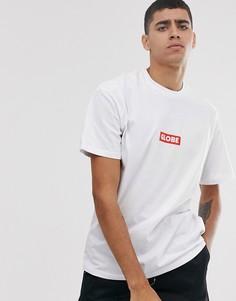 Белая футболка с логотипом Globe-Белый