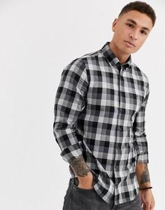 Приталенная рубашка с длинными рукавами Tommy Hilfiger-Черный