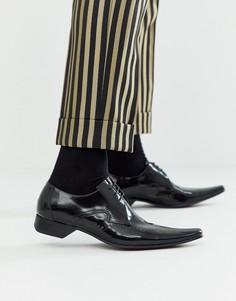 Черные кожаные туфли Jeffery West - Pino-Черный