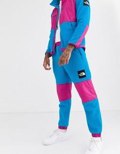 Розово-голубые флисовые штаны The North Face Denali-Синий