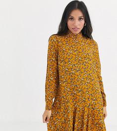 Платье мини с цветочным принтом и высоким воротом Y.A.S Petite-Мульти
