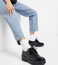 Черные туфли на шнуровке Monki-Черный