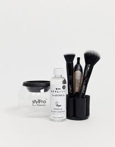 Подарочный набор для очищения кистей для макияжа с блестящей отделкой STYLPRO-Бесцветный