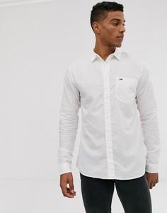 Рубашка с длинным рукавом из ткани с добавлением льна Tommy Jeans-Белый