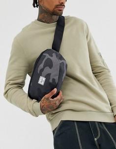 Поясная сумка-кошелек с камуфляжным принтом Herschel Supply Co Sixteen 5 л-Серый