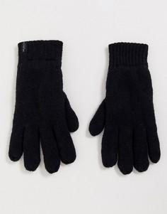 Черные шерстяные перчатки Selected Homme-Черный