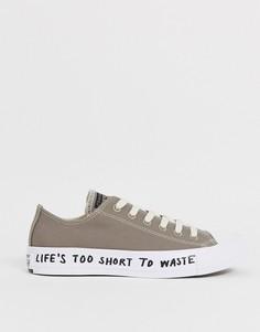 Серые кроссовки из переработанных материалов Converse Chuck Taylor Ox All Star Renew-Серый