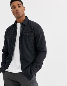 Черная джинсовая рубашка Jack & Jones Essentials-Черный