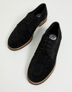 Черные замшевые туфли на шнуровке H by Hudson Chatra-Черный