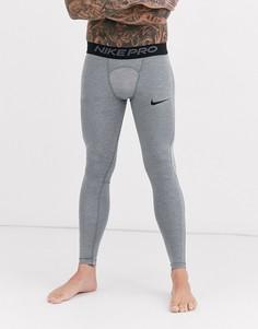 Серые леггинсы Nike Pro Training-Серый