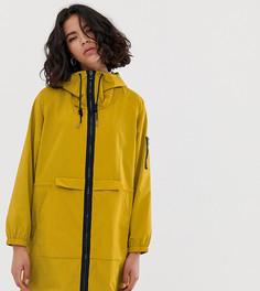 Легкая нейлоновая парка горчичного цвета Esprit-Желтый