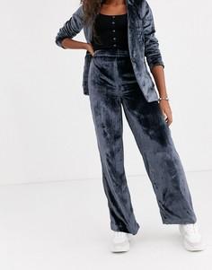 Бархатные брюки с широкими штанинами Pepe Jeans-Темно-синий