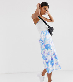 Атласная юбка с принтом тай-дай Reclaimed Vintage Inspired-Мульти