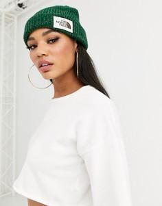 Зеленая шапка-бини The North Face-Зеленый