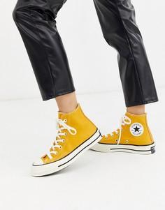 Высокие желтые кеды Converse Chuck 70-Желтый