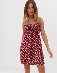 Летнее платье с цветочным принтом Hollister-Мульти