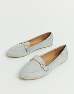 Серые туфли на плоской подошве и с отделкой RAID Viera-Серый