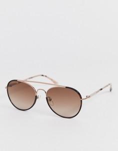 Круглые солнцезащитные очки Lacoste - L211S-Розовый