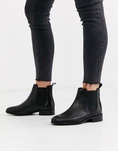 Черные кожаные ботинки челси Office Bramble-Черный