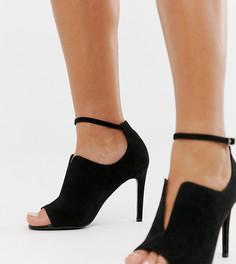 Туфли на высоком каблуке для широкой стопы ASOS DESIGN Worth-Черный