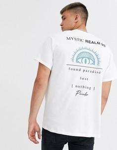 Белая футболка с принтом New Look-Белый