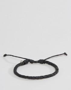Черный плетеный браслет Classics 77