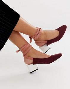 Туфли на среднем каблуке с завязкой на щиколотке ASOS DESIGN Steps-Мульти
