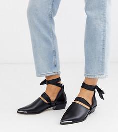 Черные туфли для широкой стопы со сменными шнурками ASOS DESIGN-Черный