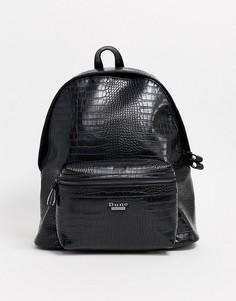 Черный рюкзак с рисунком крокодиловой кожи Dune - Wooda