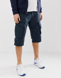Темно-синие свободные шорты карго Esprit-Темно-синий