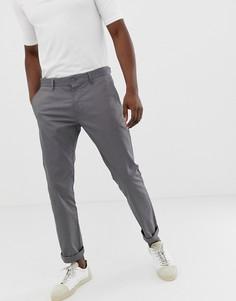 Серые узкие чиносы Esprit-Серый