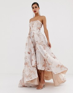 Платье-бандо макси с пайетками Bariano-Мульти