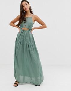 Пляжное платье макси ASOS DESIGN-Зеленый
