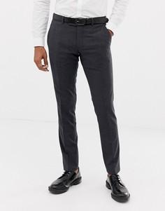 Серые узкие брюки в клетку Esprit-Серый