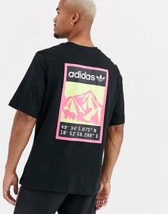 Черная футболка с принтом на спине adidas Originals adiplore-Черный