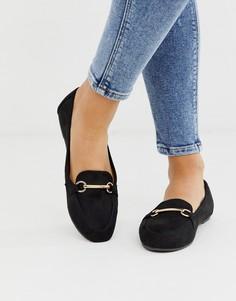 Черные туфли на плоской подошве RAID-Черный