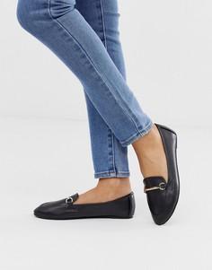Черные туфли на плоской подошве из искусственной кожи с пряжками RAID Viera-Черный