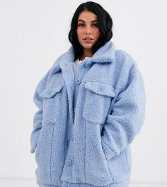 Oversize-куртка из искусственного меха Daisy Street Plus-Синий