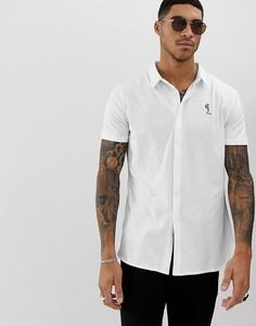 Белая трикотажная рубашка с короткими рукавами Religion-Белый