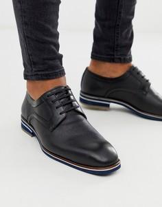 Черные кожаные туфли на шнуровке Depp London-Черный
