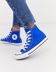 Ярко-синие высокие кеды Converse Chuck Taylor All Star-Синий