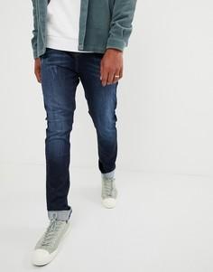 Выбеленные джинсы клеш Brooklyn Supply Co-Синий